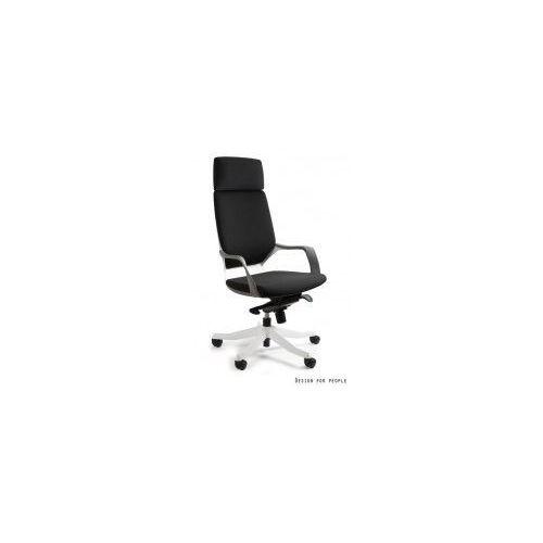 Krzesło biurowe Apollo biały/ czarny, kolor czarny
