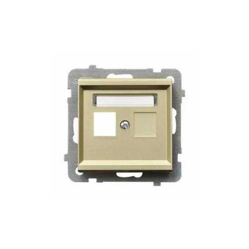 OSPEL SONATA GPK-1R/p/39 Obudowa gniazda pojedynczego SZAMPAŃSKI ZŁOTY (5907577462086)