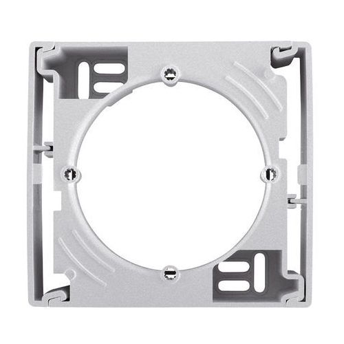 Schneider electric Sedna podstawa naścienna pojedyncza pozioma aluminium sdn6100160 (8690495053357)