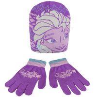 Cerda Komplet: czapka jesienna / zimowa i rękawiczki frozen - kraina lodu