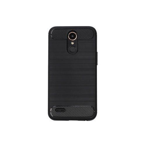 LG K10 (2017) - etui na telefon Forcell Carbon - czarny, ETLG476CRBNBLK000