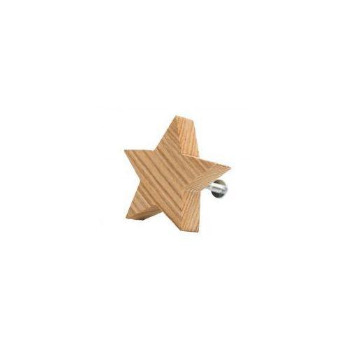 Home-idea Premium gałka do mebli gwiazdka drewniana