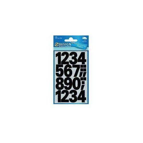 Avery zweckform Naklejki czarne cyfry - 25mm (4004182037850)