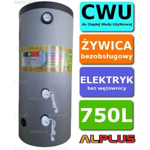 Elektryczny bojler 750l 6kw (2 grzałki po 3kw lub inne do wyboru), ogrzewacz wody pionowy stojący, bezobsługowy, 750 litrów, 210cm x 89cm, wysyłka gratis marki Alplus
