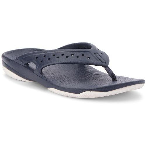 Japonki CROCS - Swiftwater Deck Flip M 204961 Navy/White, kolor niebieski