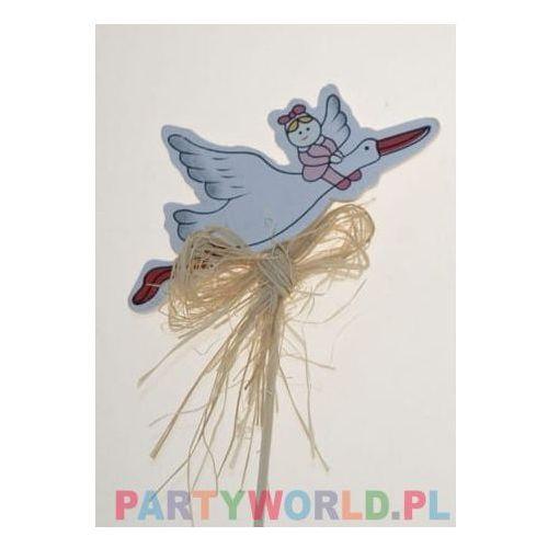 Piker bocian z dzieckiem, urodziny dziewczynki marki Party world