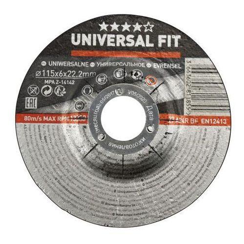 Tarcza do szlifowania metalu 115 x 6 mm marki Universal