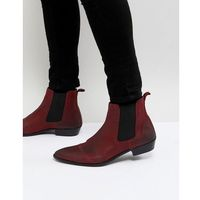 Walk london ziggy leather chelsea boots in red - red