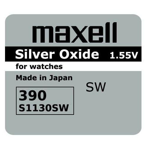 Bateria srebrowa mini 390 / 389 / sr 1130 sw / g10 marki Maxell