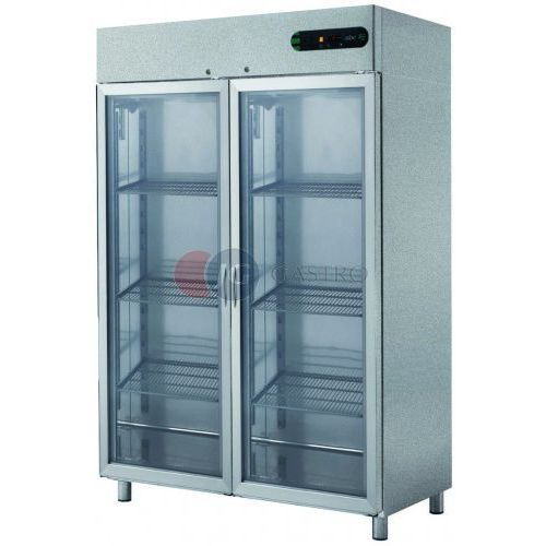 Asber Szafa chłodnicza 2-drzwiowa przeszklona 1400 l ecp-g-1402 glass