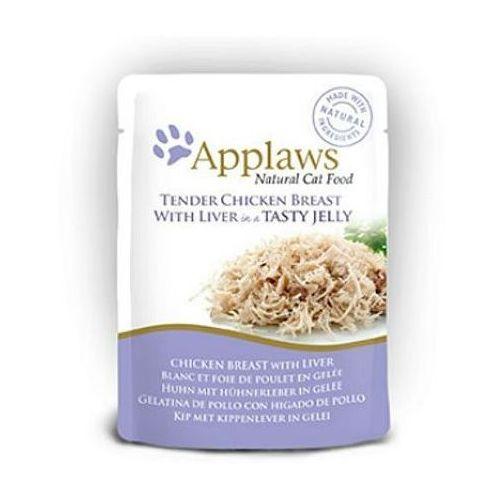 kurczak z wątróbką w galaretce karma dla kota saszetka 70g marki Applaws