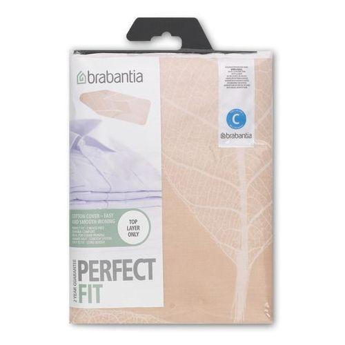Brabantia  - pokrowiec na deskę do prasowania 124 x 45cm - pianka 2mm - leaves