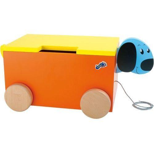 """Pojemnik, skrzyneczka na zabawki, zabawka do ciągnięcia """"piesek nibo"""", 1213-, drewniane meble dla dzieci marki Small foot design"""