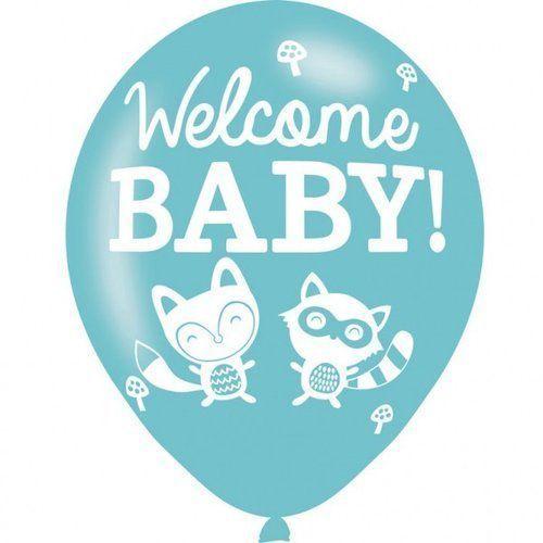Balony lateksowe Welcome Baby 6 sztuk