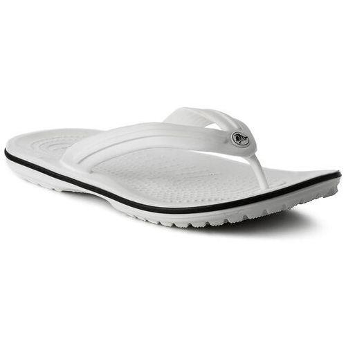 Japonki CROCS - Crocband Flip 11033 White, kolor biały