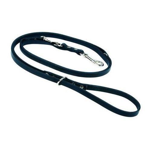 smycz skórzana regulowana kolor: czarny 12mm / 270cm marki Chaba