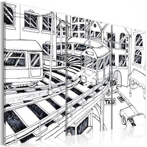 Obraz - Futurystyczna stacja kolejowa - black and white, A0-N2211 (5427030)