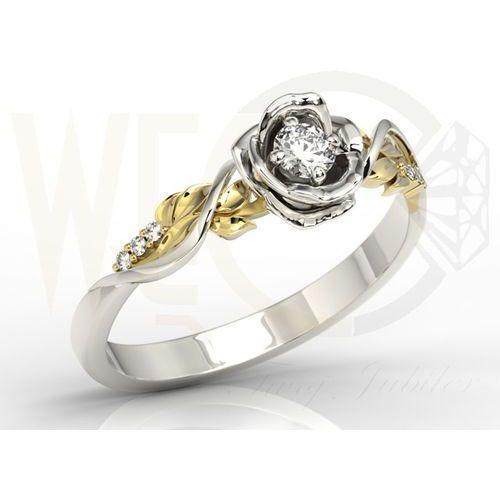 Węc - twój jubiler Pierścionek złoty w kształcie róży z cyrkoniami lp-7715bz-c - wszystkie cyrkonie