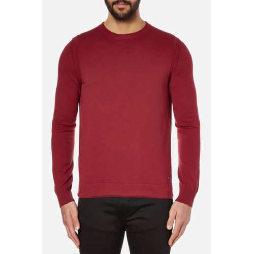 men's albinon crew neck knitted jumper - medium red - l od producenta Boss orange