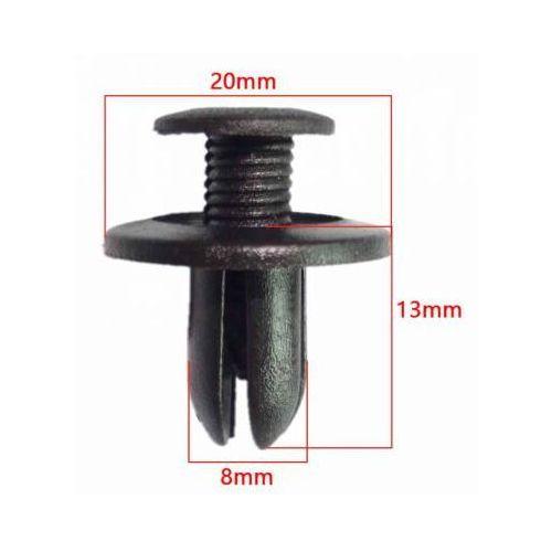 Kołek Spinka Samochodowa 8mm zderzaków tapicerek nadkoli osłon podwozia, spin8mm
