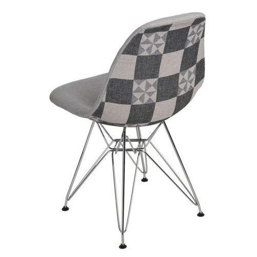 Krzesło P016 insp. DSR Pattern szary, kolor szary