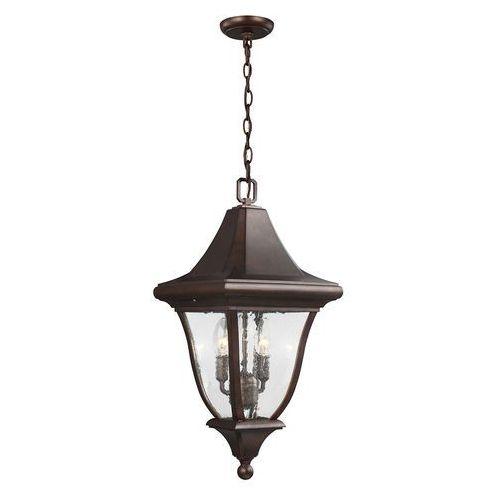 Zewnętrzna LAMPA wisząca OAKMONT FE/OAKMONT8/M Elstead FEISS ogrodowa OPRAWA zwis latarenka na łańcuchu IP44 brązowa patyna