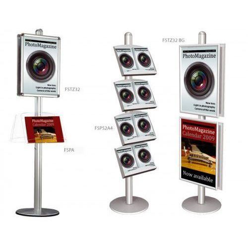 Display wolnostojący 2x3 z zaokrąglonymi narożnikami A2(420x594mm), FSTZ32/A2