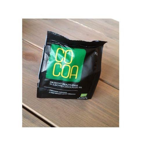Orzechy brazylijskie w surowej czekoladzie BIO 70g - COCOA