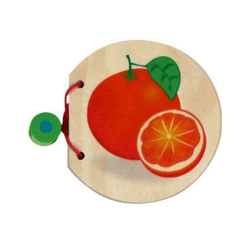 drewniana książeczka z obrazkami owoce marki Hess