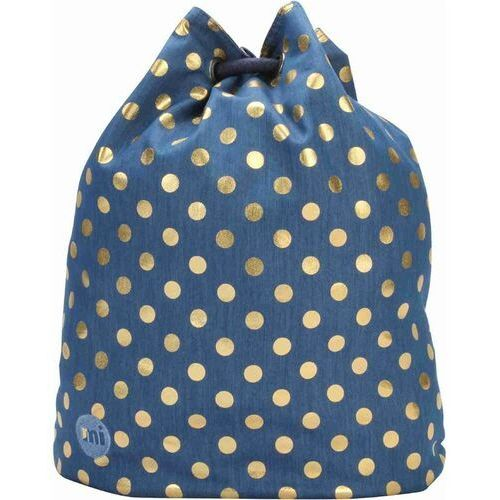 Mi-pac Worek na plecy - swing bag denim polka indigo/gold (007) rozmiar: os