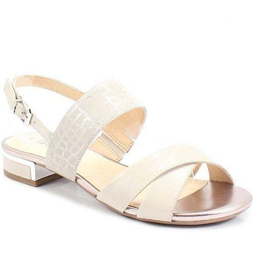 9-28143-22 beż nude srebro - sandały marki Caprice
