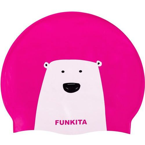Funkita swimming cap bathing cap women pink/white one size 2018 czepki (9334722230164)