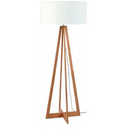 Lampa podłogowa everest bambus 4-nożna 127cm/abażur 60x30cm, lniany biały marki It's about romi
