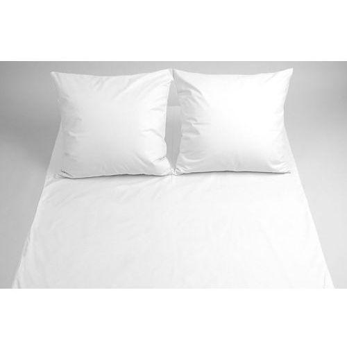 Pościel hotelowa biała z satyny bawełnianej 140x200cm 2 części, kolor biały