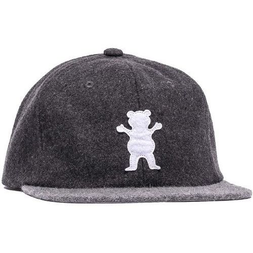 Grizzly Czapka z daszkiem - upstream strapback - spring charcoal/heather (char)