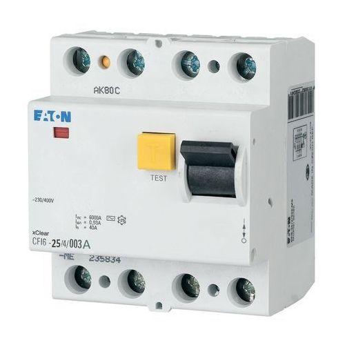 Eaton - moeller Wyłącznik różnicowoprądowy 4p 25a 0,03a typ ac cfi6 25/4/003 235776 (4015082357764)