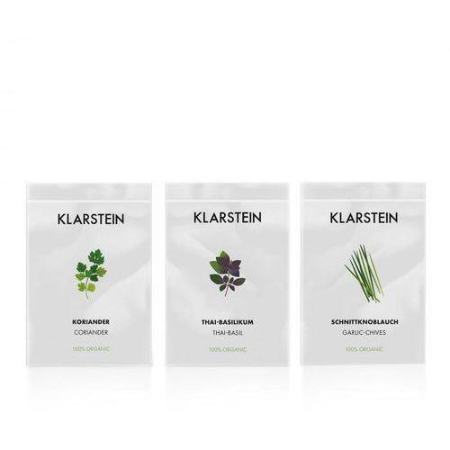 growlt seeds asia | 3 paczki nasion: kolendra bazylia tajska i czosnek bulwiasty marki Klarstein