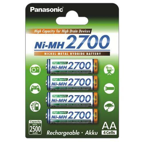 4 x akumulatorki r6 aa ni-mh 2700mah (blister) marki Panasonic