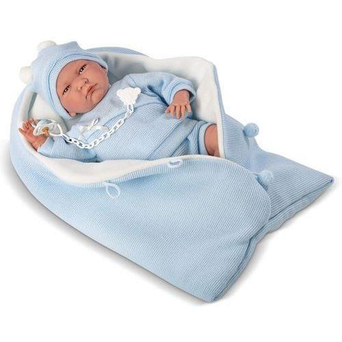 Llorens lalka płacząca lalo w niebieskim śpiworku 40 cm (8426265740291)