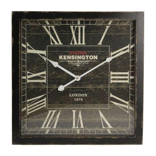 Dekoria Zegar ścienny London Black 40x6x40cm, 40 × 6 × 40 cm, kolor czarny
