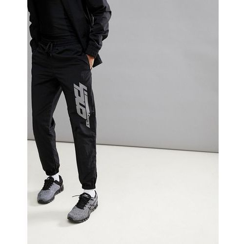 Asos 4505 woven joggers with reflective print in black - black