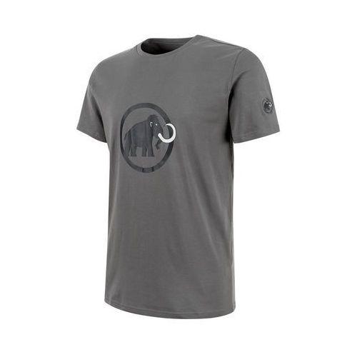 Koszulka logo t-shirt men - titanium-dark titanium, Mammut