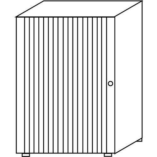 VERA - Szafka z roletami, ustawiania w stos,2 półki, wys. 1090 mm