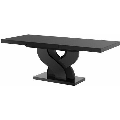 Hubertus Stół rozkładany bella 160-256 czarny połysk