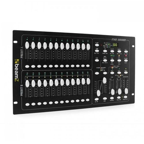 Dmx-024pro 24-kanałowy kontroler dmx konsola oświetleniowa marki Beamz