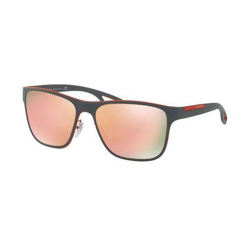 Okulary Słoneczne Prada Linea Rossa PS56QS LJ SILVER VHL6Q2, kolor żółty