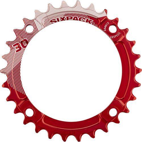 Sixpack K-Ring Narrow Wide Zębatka rowerowa czerwony 30 zębów 2017 Zębatki przednie (4057762001833)