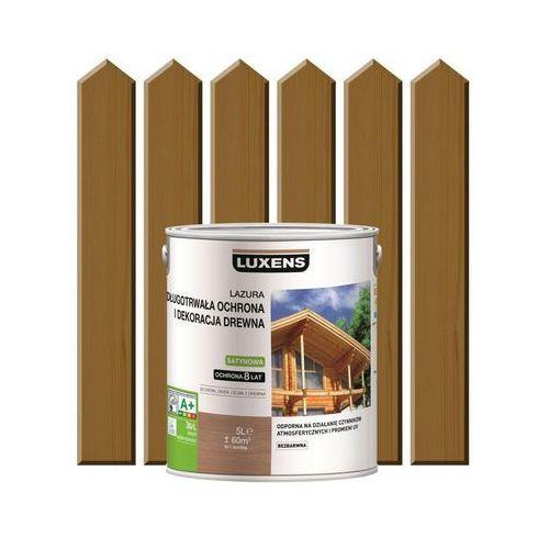 Luxens Lazura do drewna długotrwała ochrona i dekoracja drewna 5 ldąb rustykalny (3276006110204)