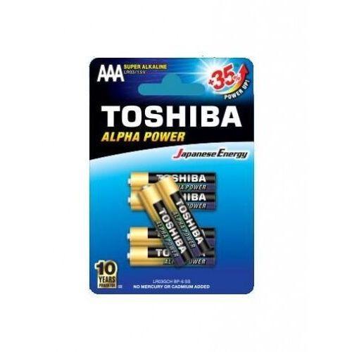 Baterie alkaliczne lr03gch bp-6 (4+2szt)- natychmiastowa wysyłka, ponad 4000 punktów odbioru! marki Toshiba