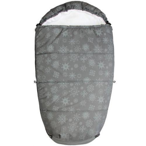 Emitex śpiworek do wózka mumie płatek śniegu, szary/biały